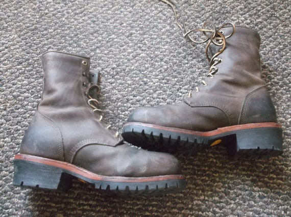 Chippewa Logger Boots SUPER BAY APACHE Steal Toe work boots Biker boots