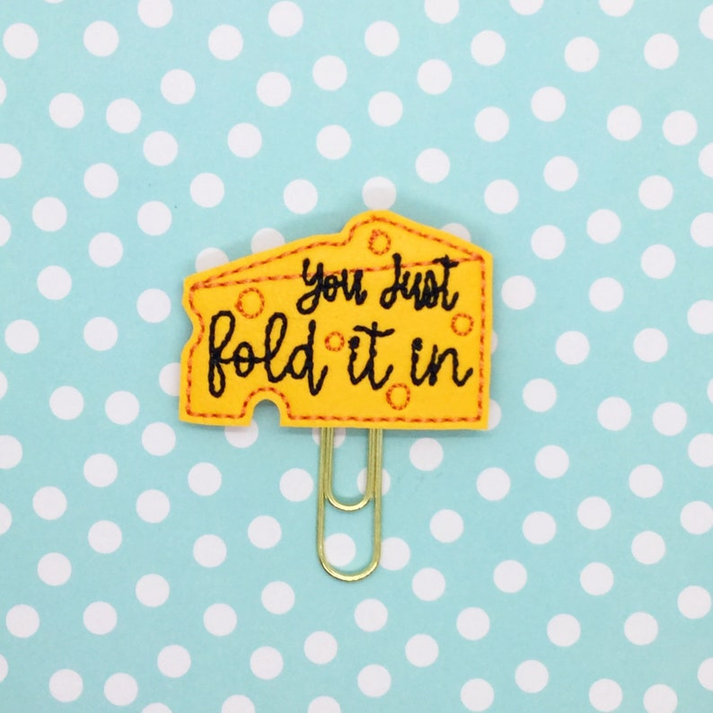 Planner Clip Just Fold It In TV Inspired Clip Moira Saying image 0
