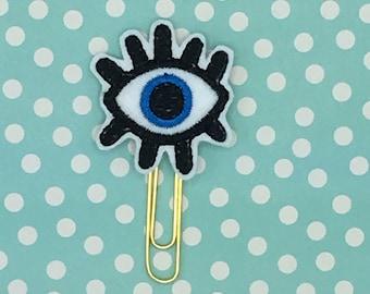 Planner Clip, Evil Eye Planner Clip, Evil Eye Clip, Evil Eye, Planner Accessory, Bookmark Feltie, Erin Condren, Happy Planner