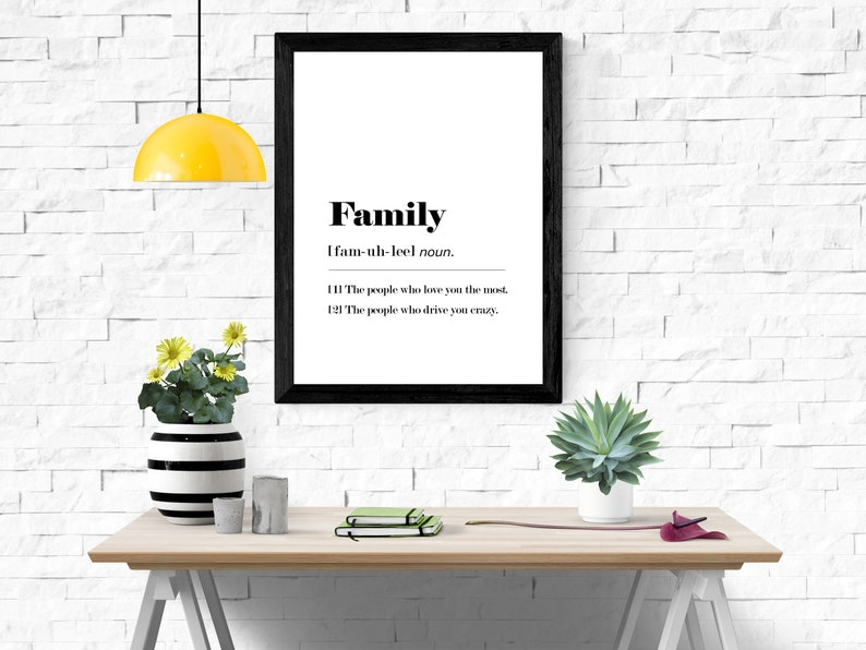 Funny Family Dictionary Definition  A4 A3 Printable Wall Art image 0