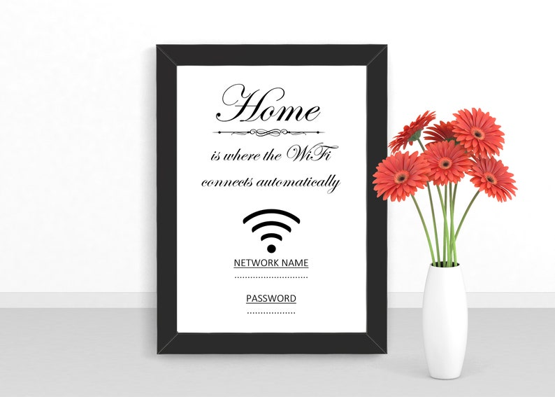Wifi Details for Guests  Home is Where the WiFi Automatically image 0
