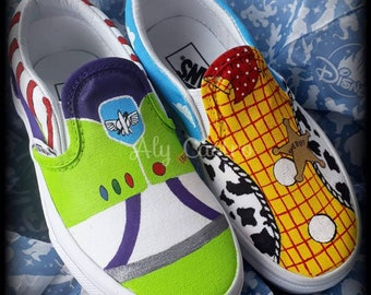 VANS Toy Story Woody and Buzz custom shoes
