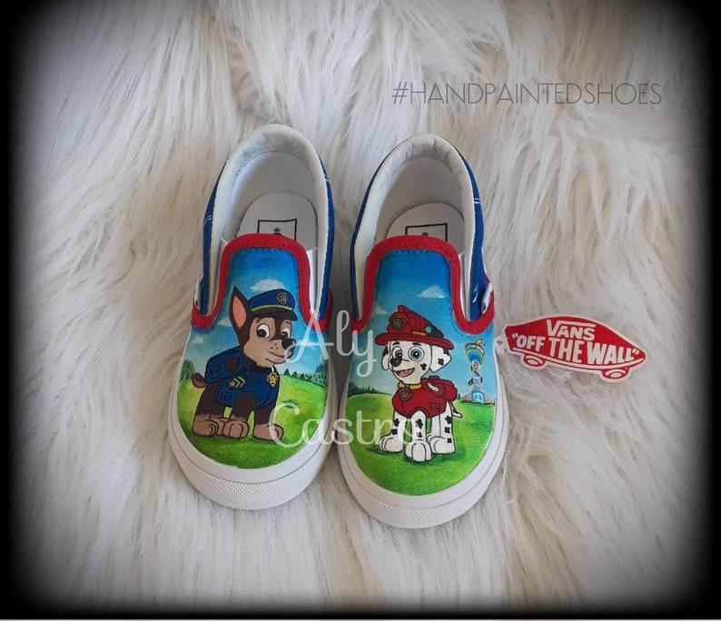 3ae9f96b0f34fa VANS Paw patrol custom shoes