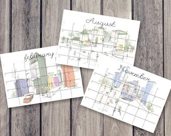 Kühlschrank Kalender : Früchte kalender kühlschrank kalender monatskalender etsy