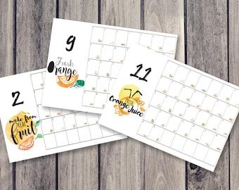 Kühlschrank Planer : Zitrone refresher kalender kühlschrank kalender