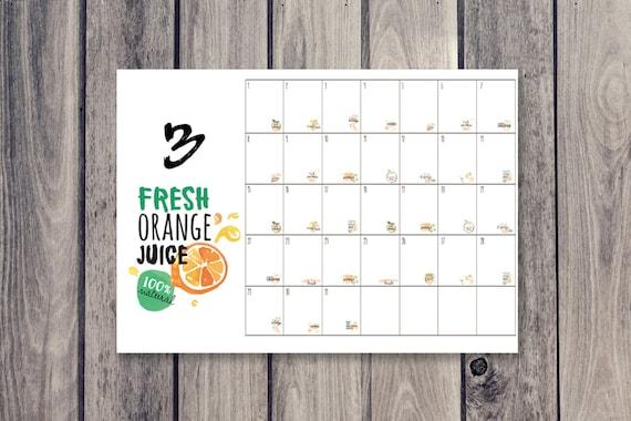 Kühlschrank Planer A3 : Früchte kalender kühlschrank kalender monatskalender etsy