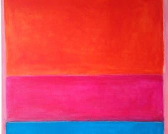 Rothko inspired etsy hand painted mark rothko inspired no1 painting reproduction on canvas thecheapjerseys Images
