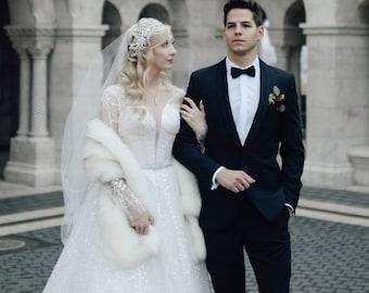 Faux Fur Wrap Bridal Etsy