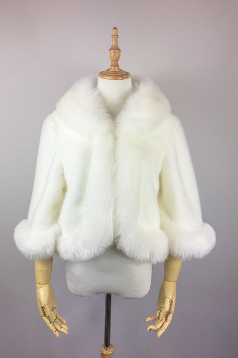 eefddcda7d7e7 Snow White faux fur coat, Ivory Fur Jacket, Bridal Fur Coat, Faux Fur Stole  Fur Cape, wedding faux fur (Chole Wht01)