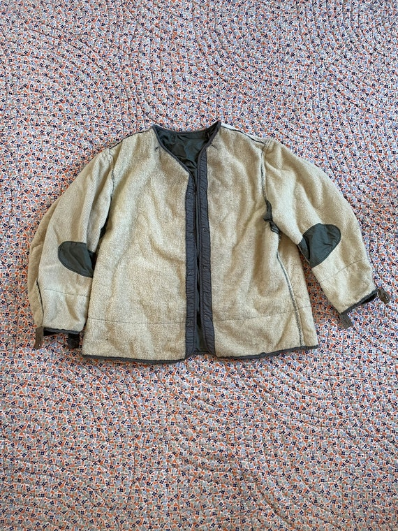 Vintage 50's Korean War Era Reversible Army Liner,