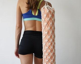 Yoga Bag, Macrame Bag, Gift For Yogi, Yoga Mat Carrier, Pilates Bag, Yoga Gift, Yoga Mom Gift, Mothers Day Gift, Net Bag, Macrame, Gift
