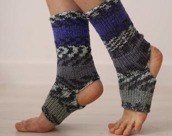 Cobalt Blue Socks, Knit Yoga Socks, Flip Flop Socks, Self Gifting Idea, Ankle Socks, Boho Style Socks, Yoga Gift, Yoga Accessories