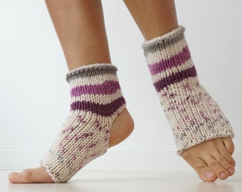 Flip Flop Socks, Yoga Socks, Yoga Gift, Dance Gift, Toeless Grip Socks, Boho Socks, Pilates Socks, Yoga Accessory, Home Yoga, Yoga Clothes