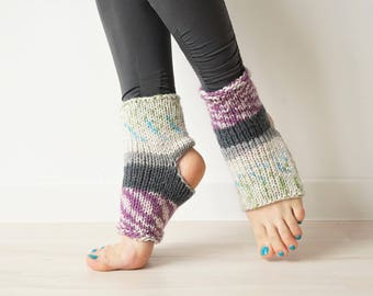 40d5db903 Yoga Socks. Home Slippers. Eco-friendly by KnitKnotSpace on Etsy