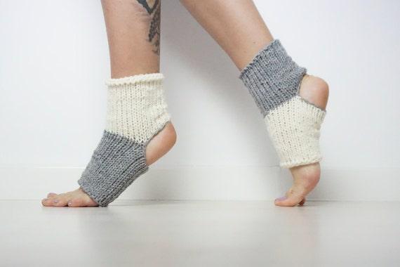 UK Size Anti-Slip Toeless Breathable Wrap Washable Grip Yoga Socks
