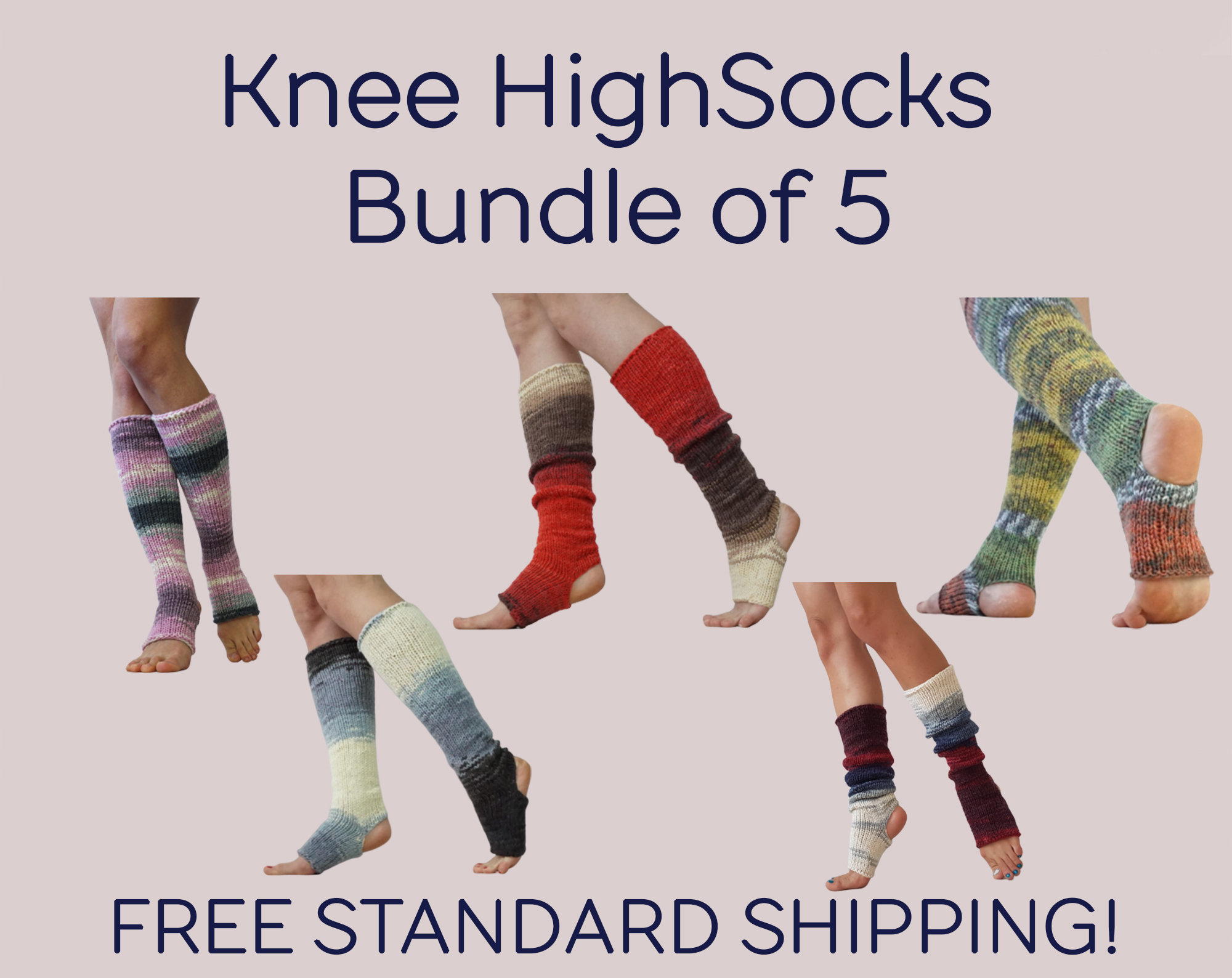 Spats, Gaiters, Puttees – Vintage Shoes Covers 5 Pairs Of Leg Warmers, Gift Set Handknit Socks, Yoga Dance Toeless Pilates Yogi Gift, Spats $216.00 AT vintagedancer.com