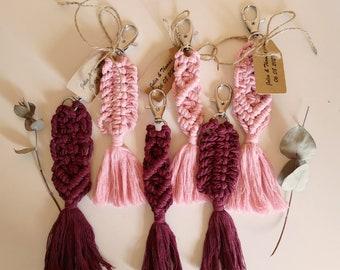 Custom Wedding Favors, Bridal Shower Favors, Gifts for Guests, Wedding Favors for Guests in Bulk, Wedding Guests Favors, Macrame Keychains