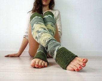 Thigh High Socks, Knit Over The Knee Socks, Yoga Socks, Yoga At Home Gift, Knit Leg Warmers, Activewear, Yoga Gift, Thigh High Leg Warmers