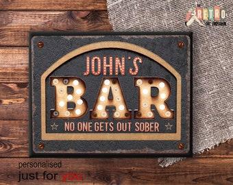Custom bar sign | Etsy