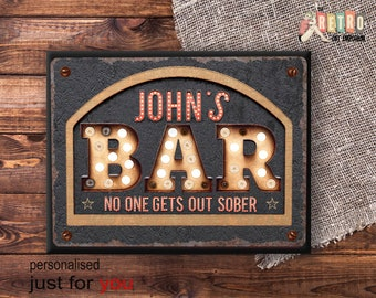Amazing Home Bar Sign, Bar Plaque, Retro Style, Custom Bar Sign, Home Bar Decor,  Beer Sign, Home Bar Decor