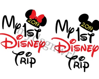 b46f68d8 My First Disney Trip svg, 2019, Disney Vacation SVG, Family Shirt, Matching  shirts, Instant Download