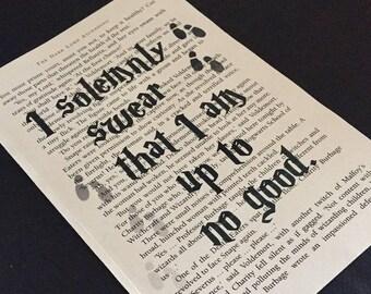 "Harry Potter ""I solemnly swear"" print"