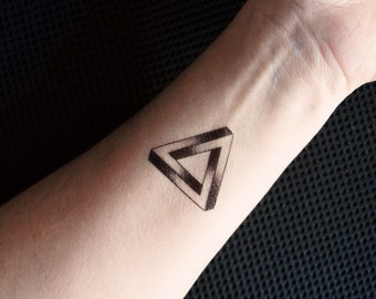 Impossible triangle temporary tattoo