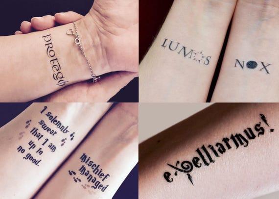 Paquete De Harry Potter Temporal Del Tatuaje 5 Tatuajes Etsy
