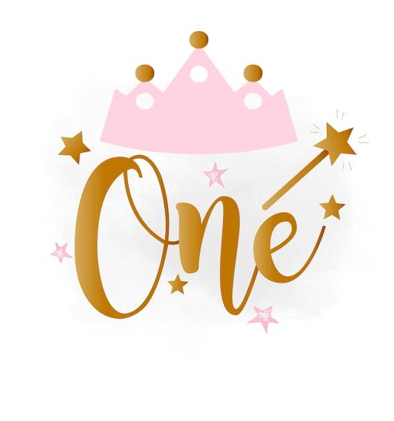 1 Geburtstag Svg Clipart Baby Madchen Geburtstagskrone Etsy
