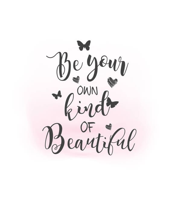 be your own kind of beautiful svg clipart inspirational quote etsy Modest Jewish Swimwear for Women image