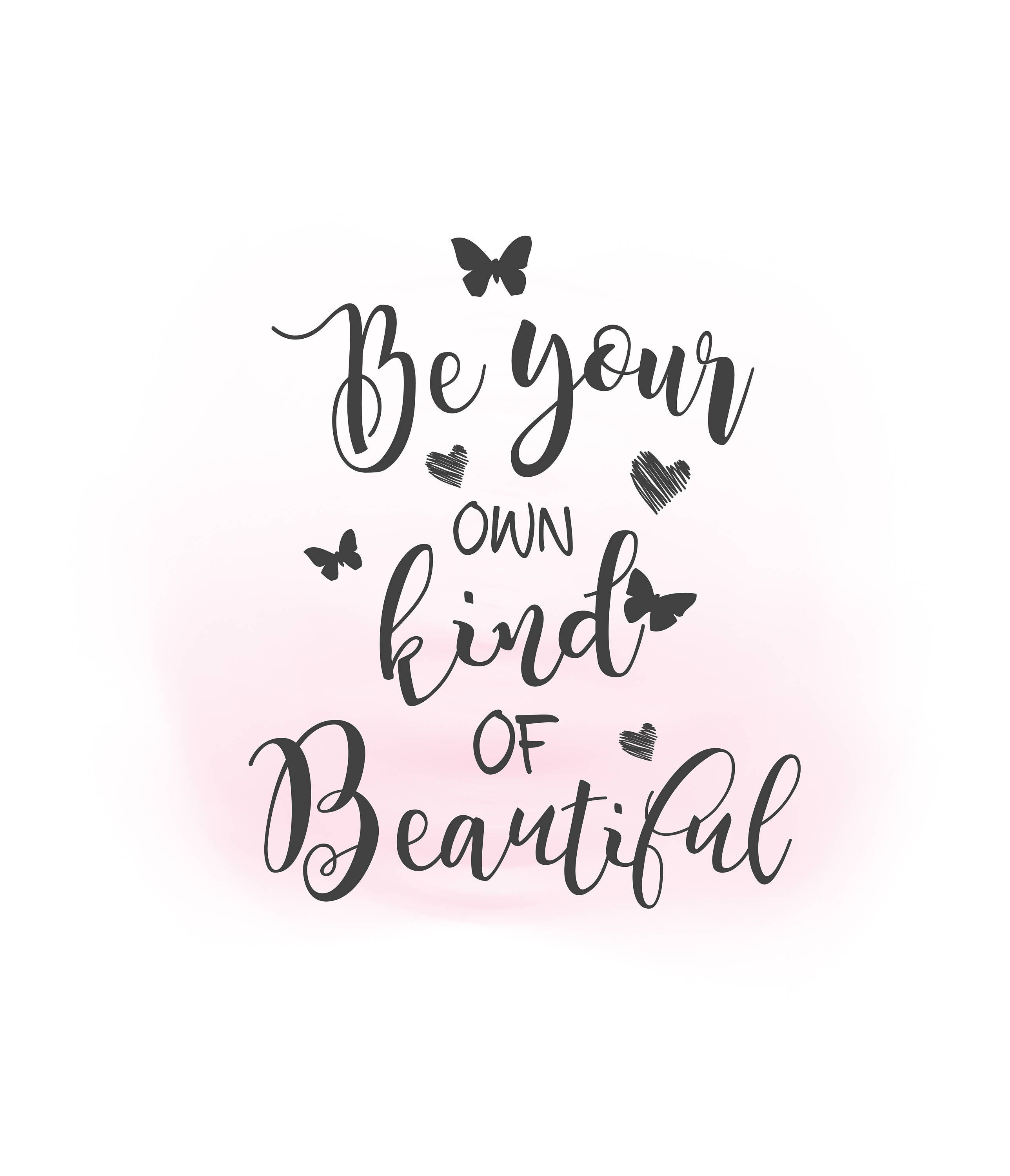 Be Your Own Kind Of Beautiful Svg Clipart Inspirational Quote Etsy