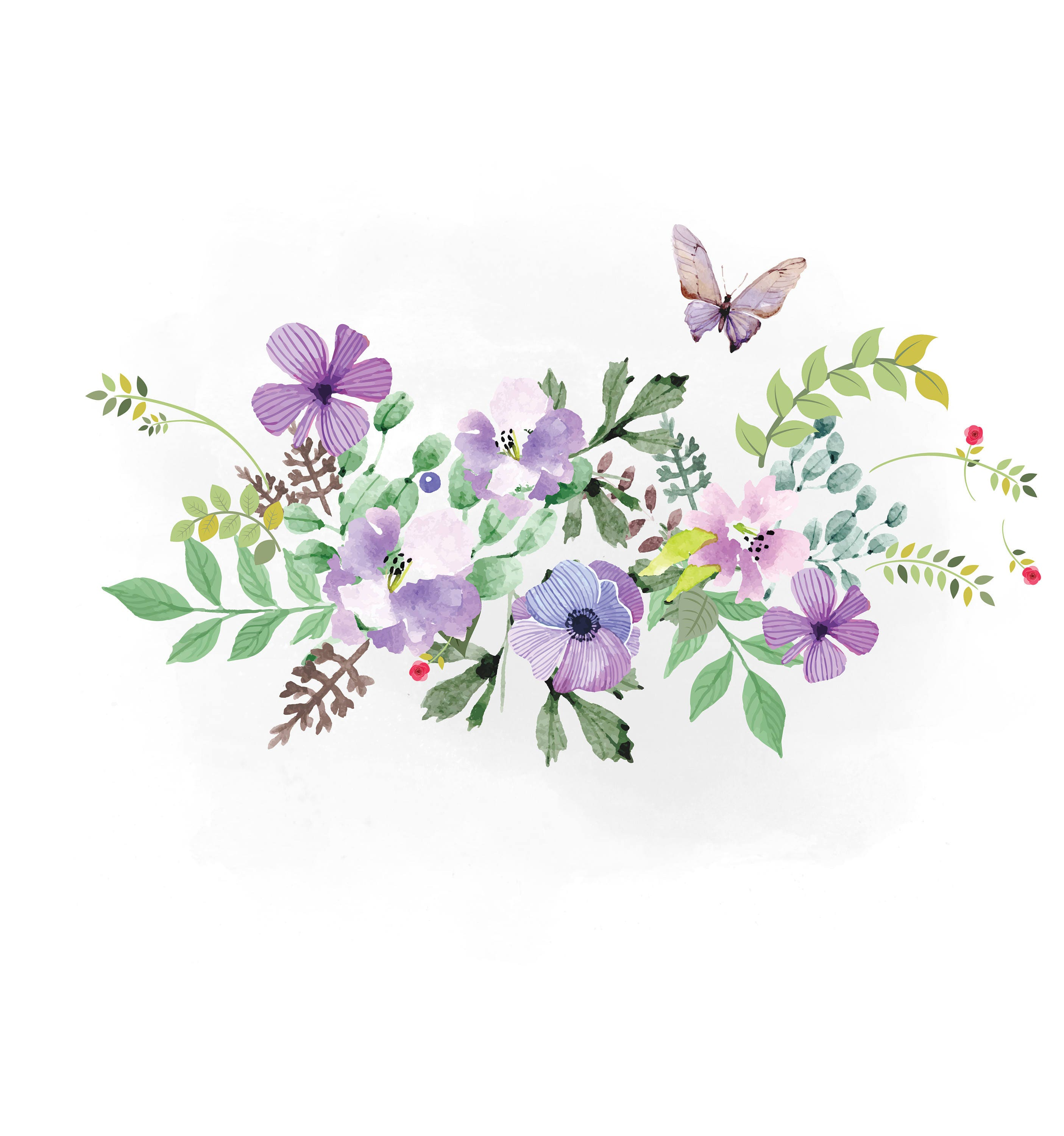Spring Florals SVG clipart watercolor flowers svg wedding ...