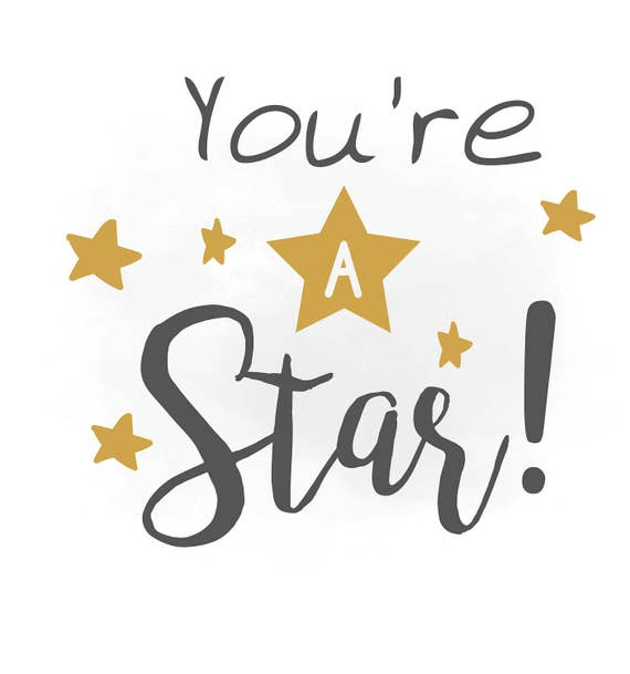 you are a star svg clipart boys quote word art cutting file etsy