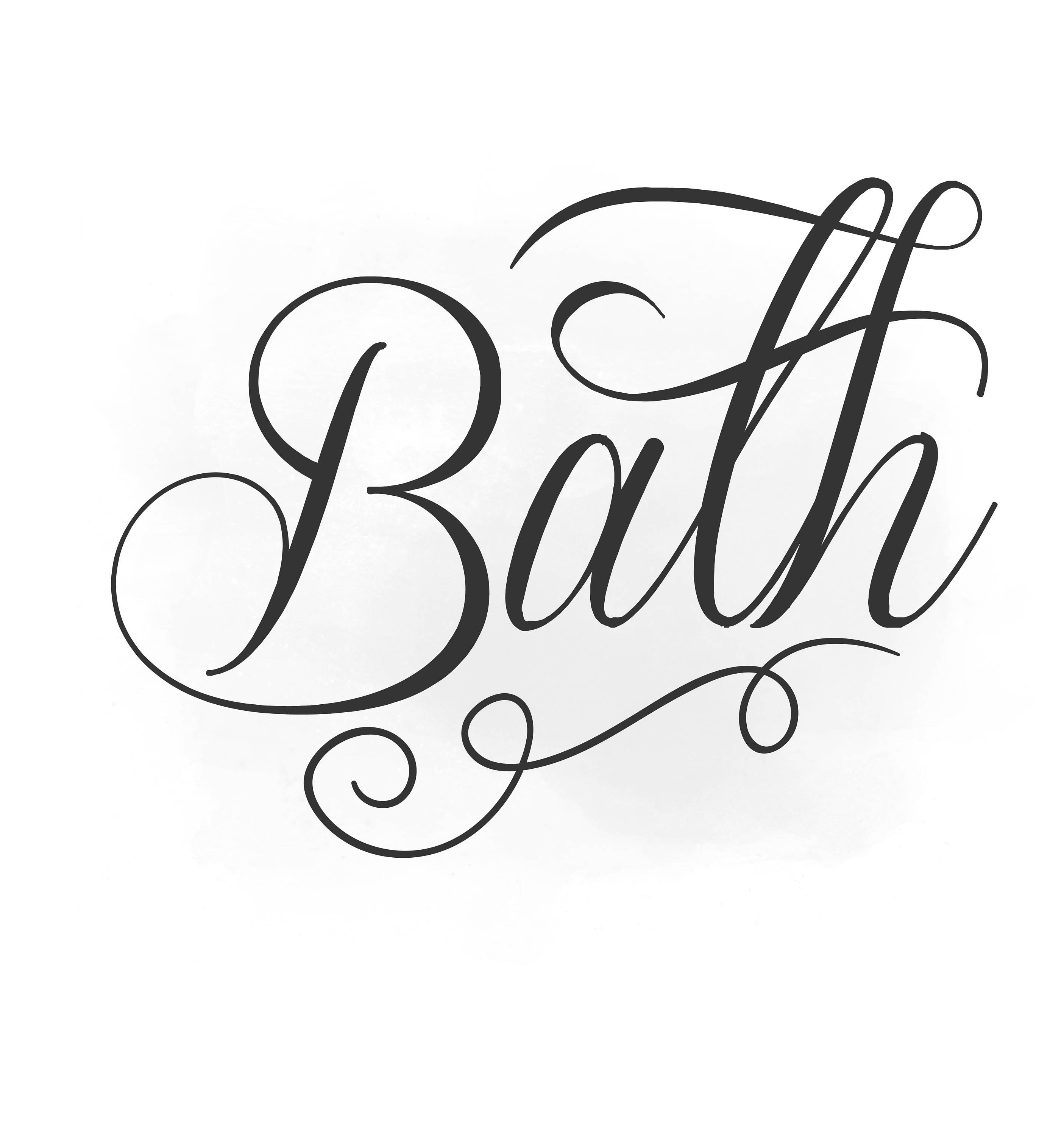 Bath Svg Clipart Bath Sign Svg Bathroom Quote Word Digital Etsy