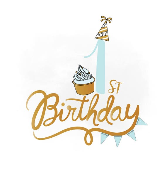 1 Geburtstag Svg Clipart Baby Boy Geburtstag Zitat Etsy