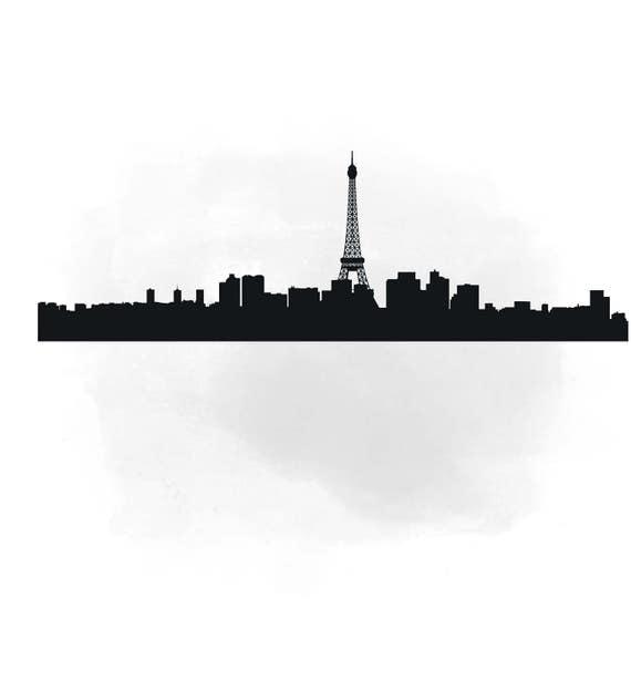 City Skyline PARIS SVG clipart International City Art | Etsy