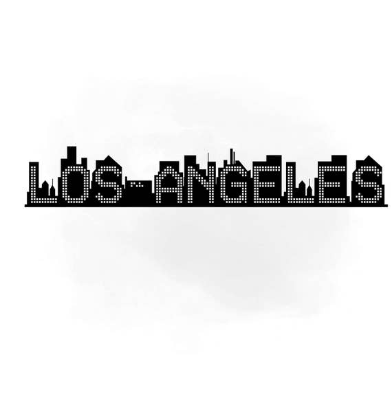 los angeles skyline svg clipart international city digital etsy