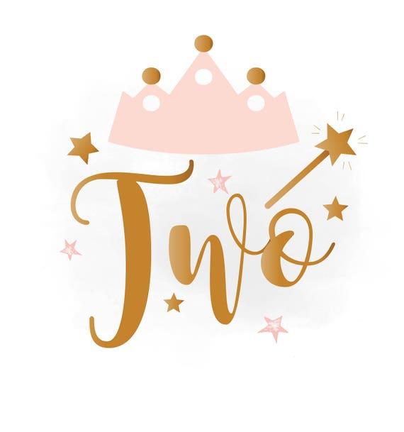 2nd Birthday SVG Clipart Baby Girl Birthday Crown Birthday