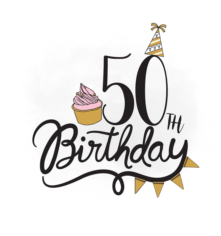 50 Geburtstag Svg Clipart Geburtstag Zitat Kuchen Svg Etsy