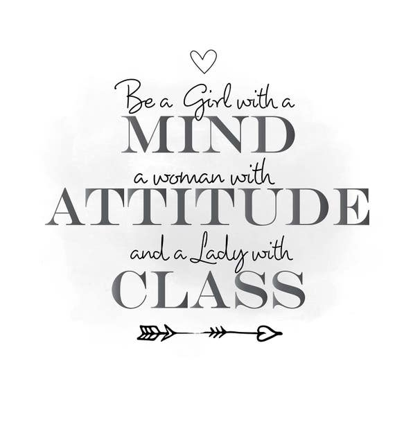 Mind Attitude Class Svg Clipart Inspirational Quote Art Etsy