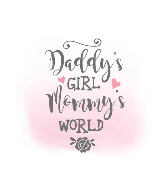 daddys girl mommys world svg clipart baby girl quote art etsy