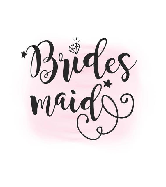 bridesmaid svg clipart wedding svg bridesmaid overlay etsy rh etsy com bridesmaid clipart bride and bridesmaid clipart