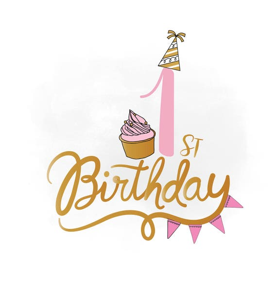 1 Geburtstag Svg Clipart Baby Madchen Geburtstag Zitat Etsy