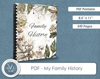 My Family History   PDF Printable   Family History   8.5 x 11