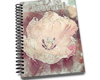 Tulip / 150 Lined Journal Pages / Notebook / Diary / 6 x9
