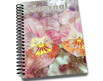 Pansy / 150 Lined Journal Pages / Notebook / Diary / 6 x9