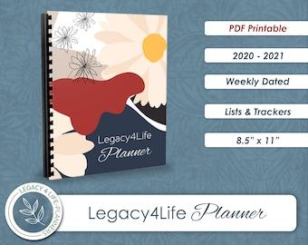 Legacy4Life Planner   PDF Printable   2020-2021   8.5 x 11