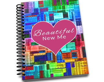 Beautiful New Me   Daily Food & Exercise Journal   90 Days Meal and Activity Tracker   Become Beautiful   6 x 9   Food Journal   City Block