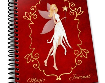 Magic Journal   6×9 Coil Bound   Soft Cover Notebook   Lined Journal Pages / Notebook / Diary