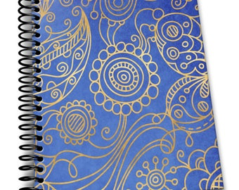 Filigree   8 x 10 Coil Bound   Soft Cover Notebook   Lined Journal Pages / Notebook / Diary